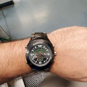 Zoo York Dual Time Stainless Steel Watch